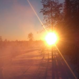 Arctic Winter sunset