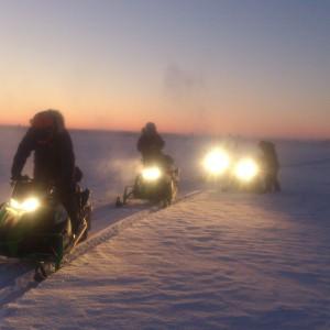 Snow mobile safari Swedish Lapland