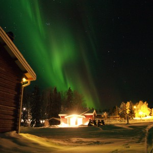 Northern Lights over Guesthouse