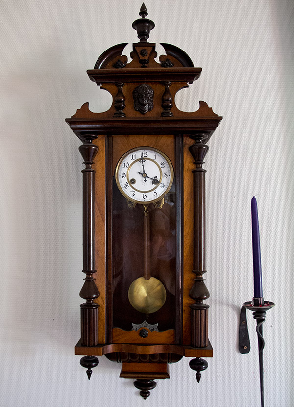 Antiques in Swedish Lapland old clock