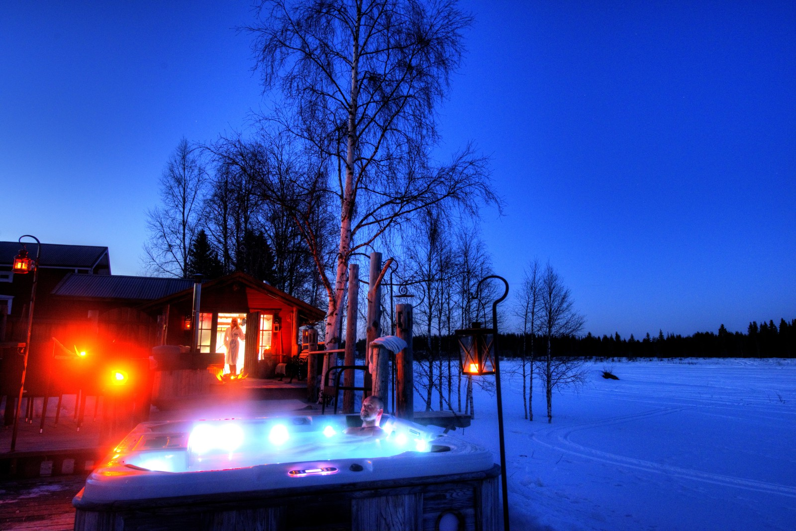 Sauna and Arcic spa at The Guest-house