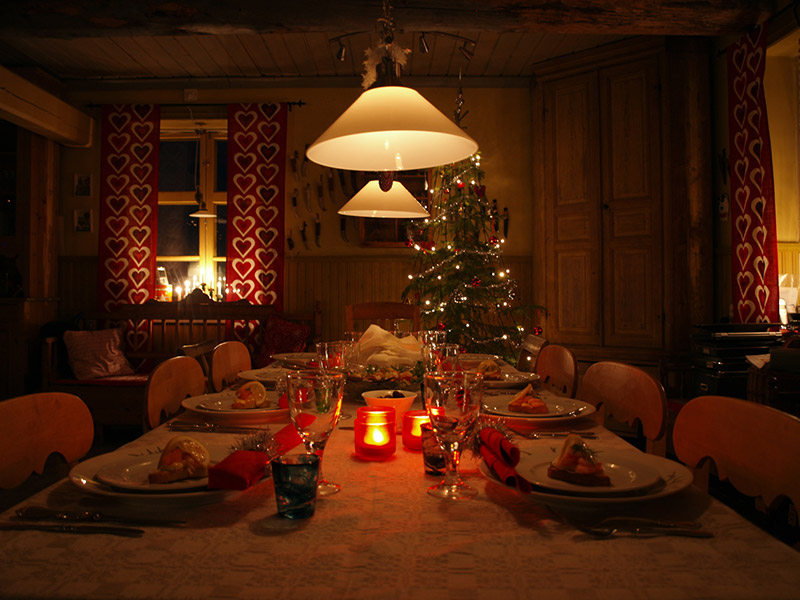 Christmas dining in Swedish Lapland