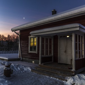 Guesthouse small cabin in Winter