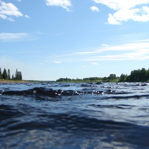 Summer at Lainio river Swedish-Lapland
