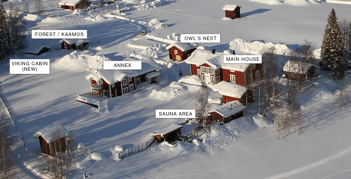 Area overview - Lapland Guesthouse-overview