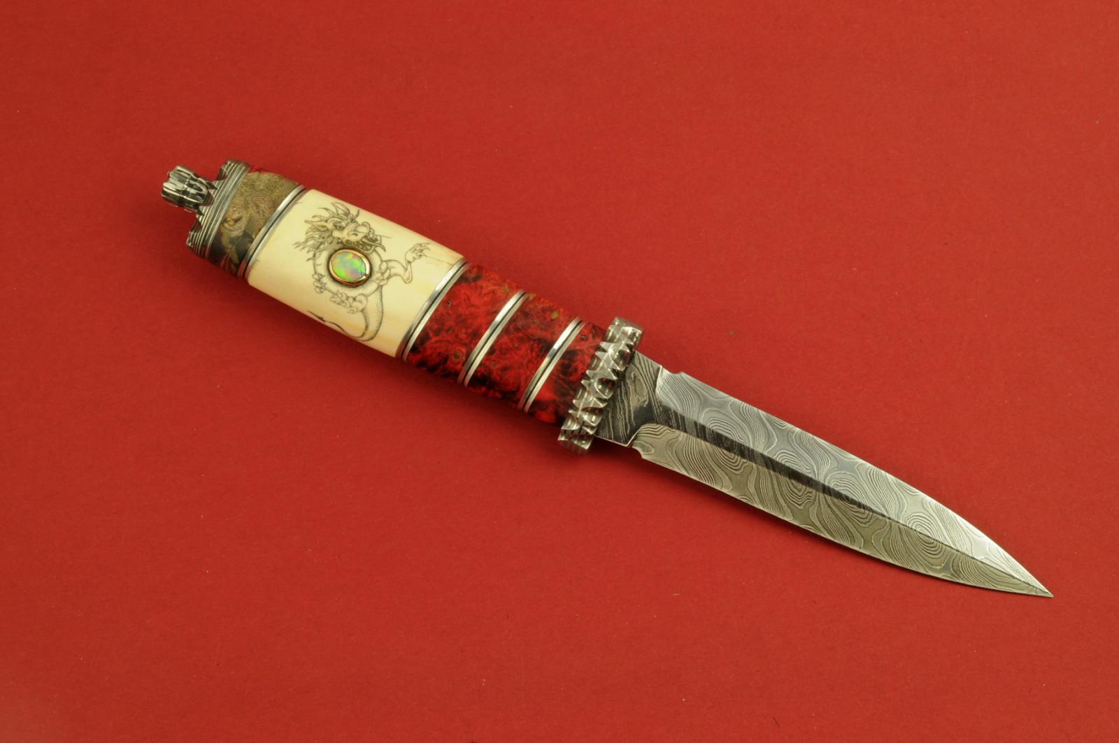 Stenvad Custom Knife dagger steel reindeer horn
