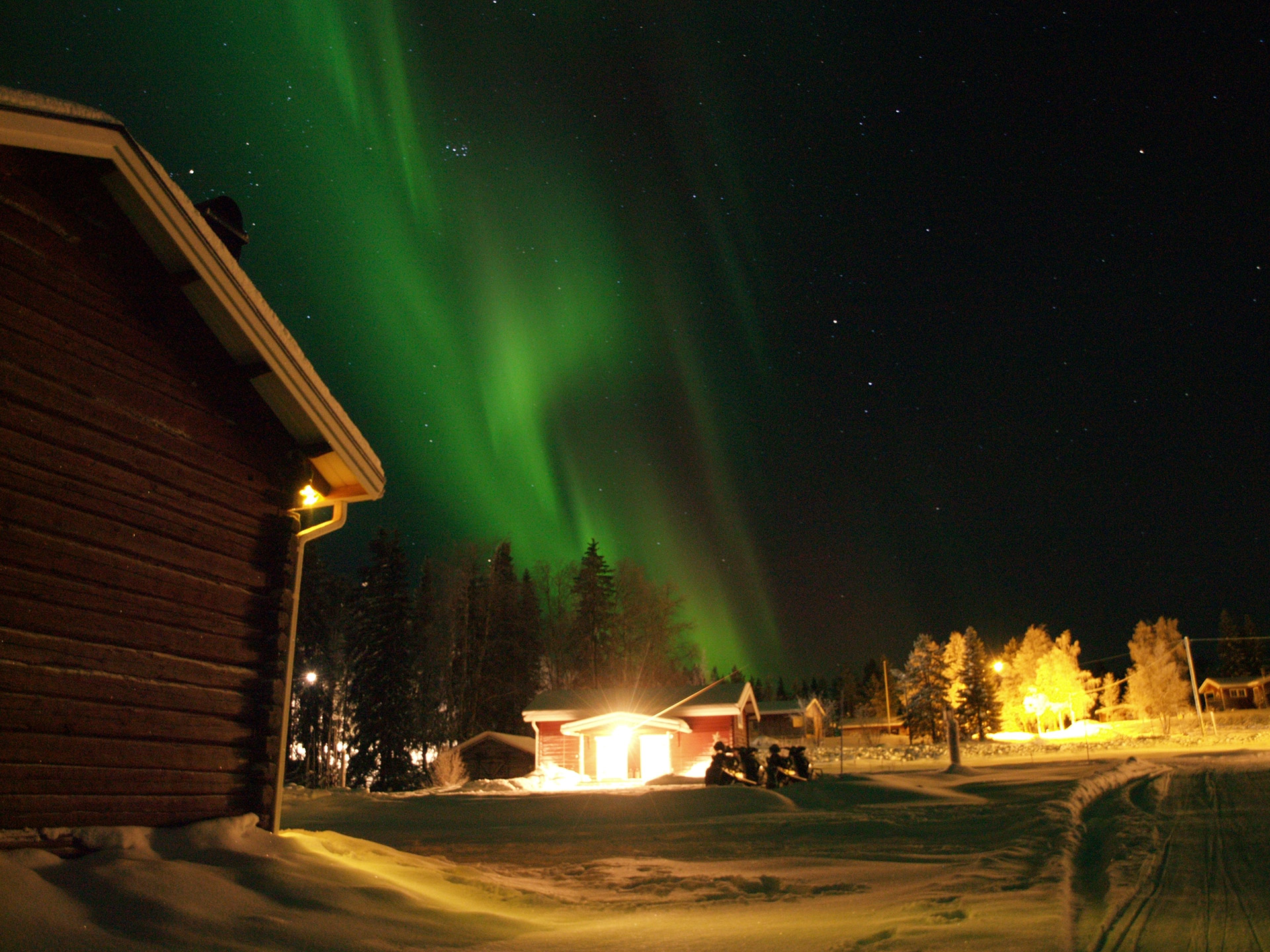 Norther Lights over the Guesthouse