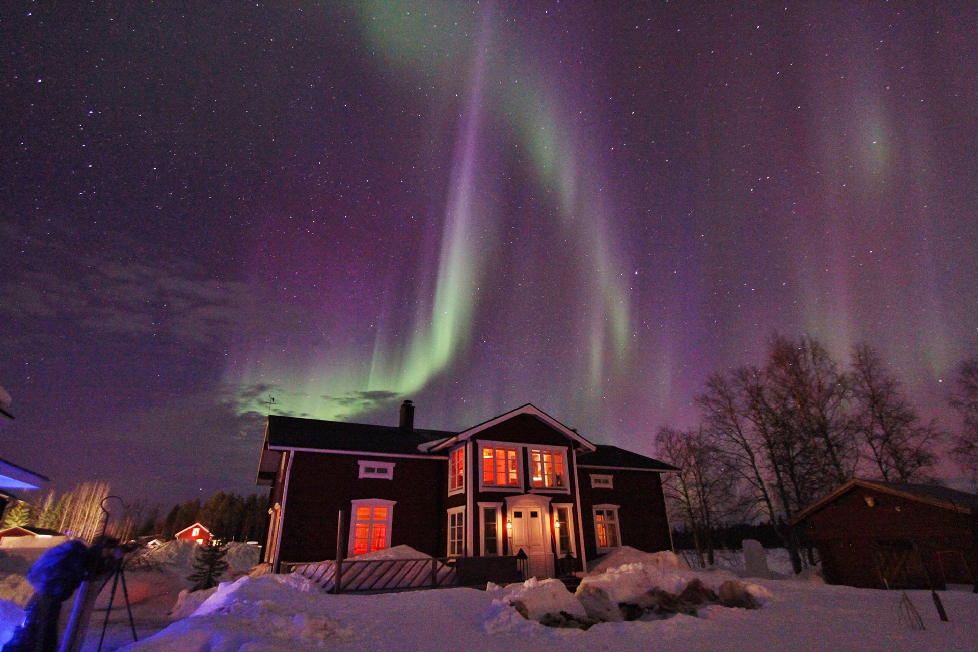 Lapland Guesthouse Northern Lights 2015