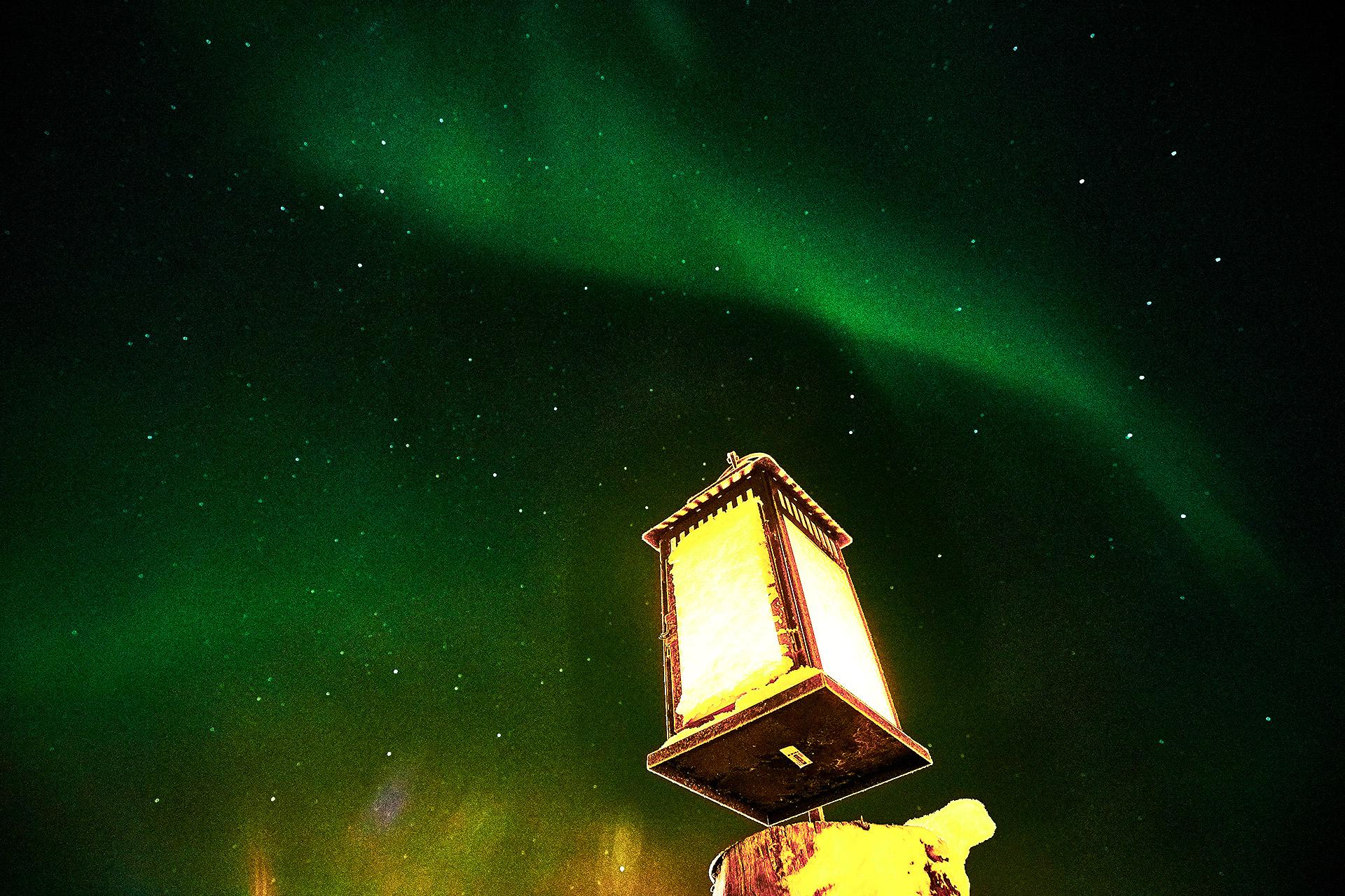 Arctic -Lantern aurora