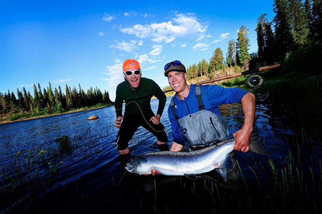 Big Salmon caougt in Kangos Lainio River