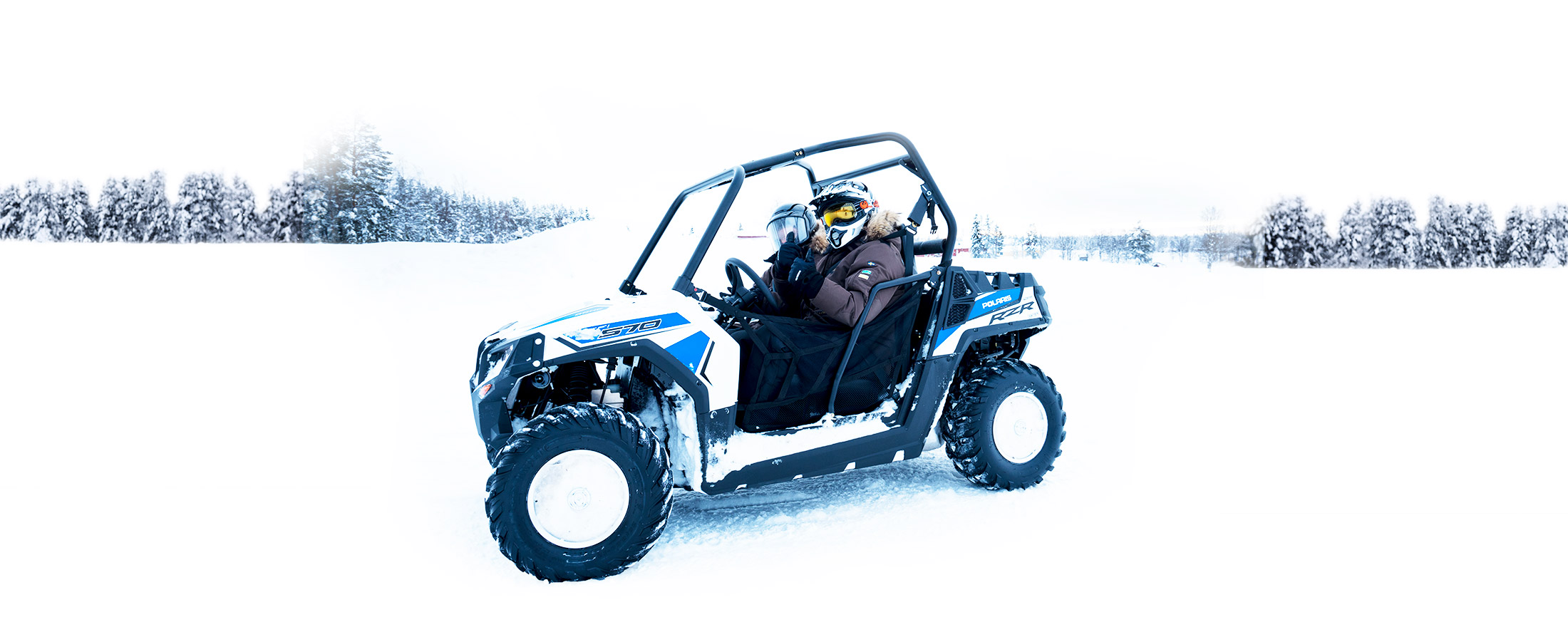 Guesthouse activities_quads - 4-wheel driving on the ice