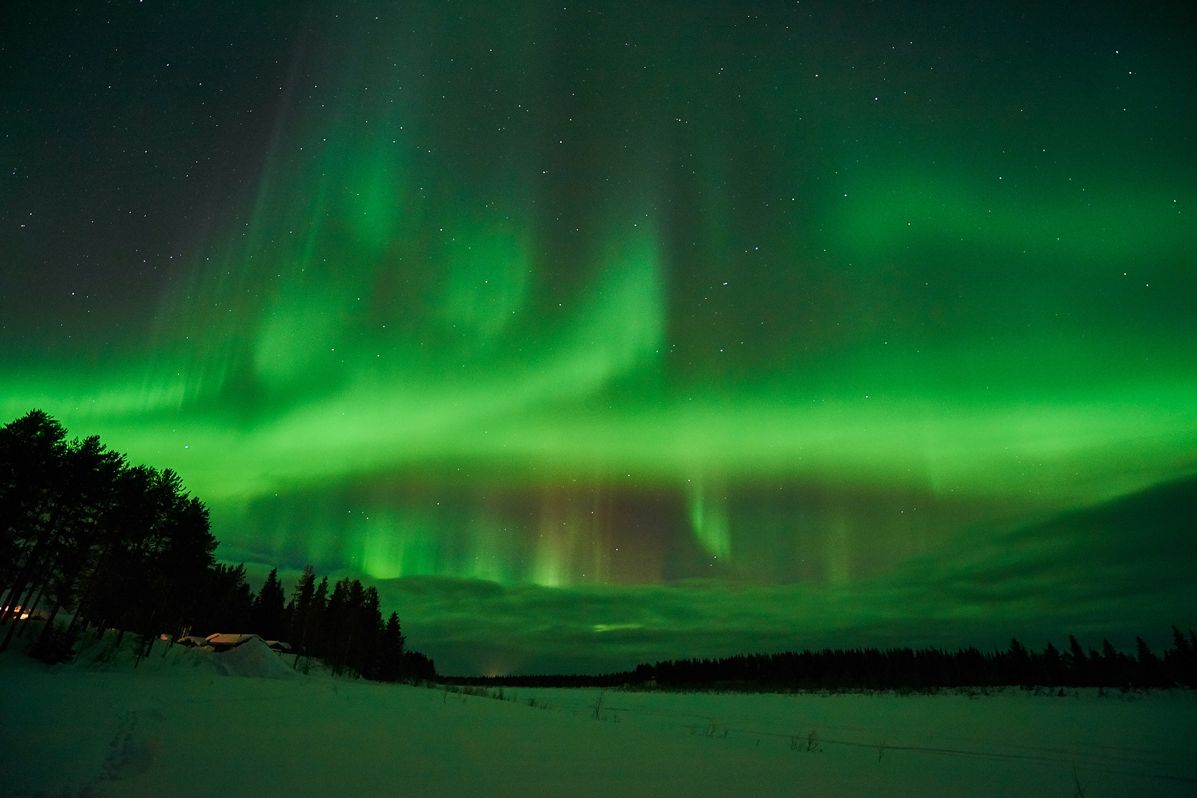 Northern lights Lapland - Aurora borealis