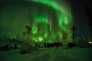 NorrskenTourists guests northern light