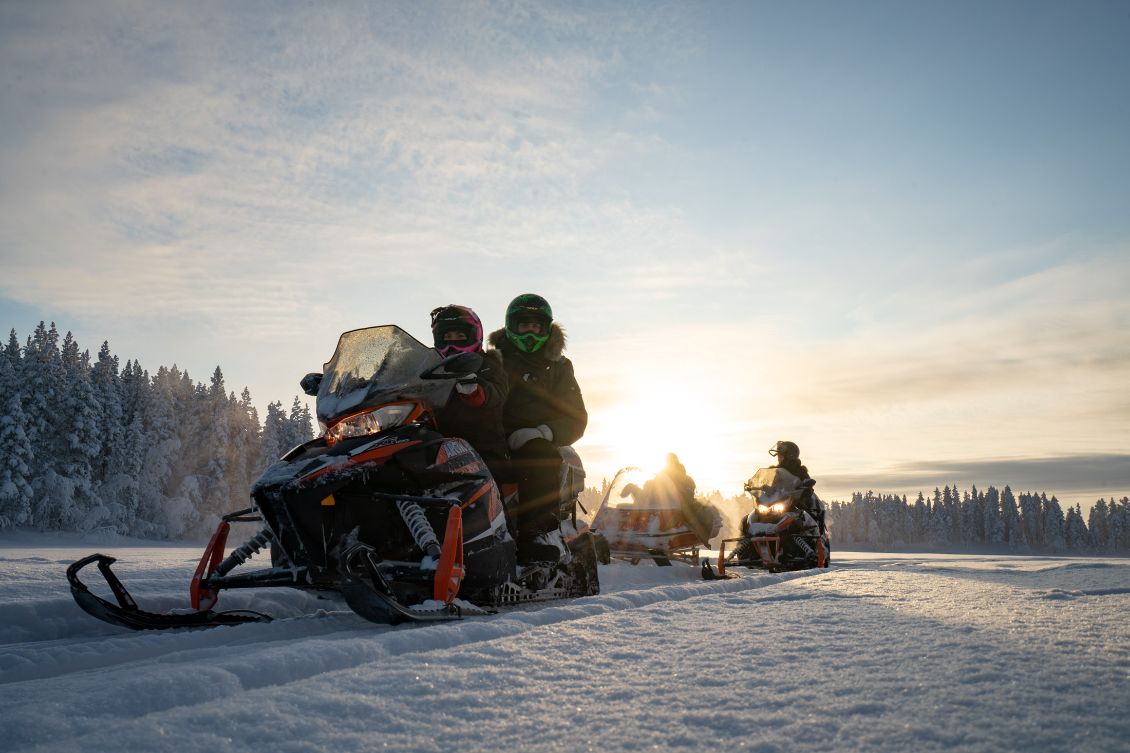 Snow mobile ride Lapland